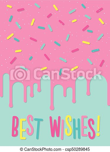 Greeting card with decorated cake best wishes greeting eps greeting card with decorated cake best wishes csp50289845 m4hsunfo