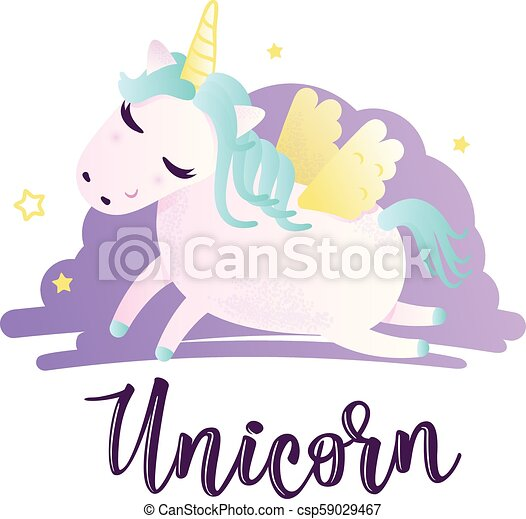 Vector illustration of a cute unicorn greeting card with unicorn vector illustration of a cute unicorn greeting card with unicorn inscription can be used for cards flyers posters t shirts m4hsunfo