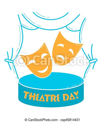 greeting card world theatre day greeting card holiday vectors rh canstockphoto com holiday vectors free holiday vectors free