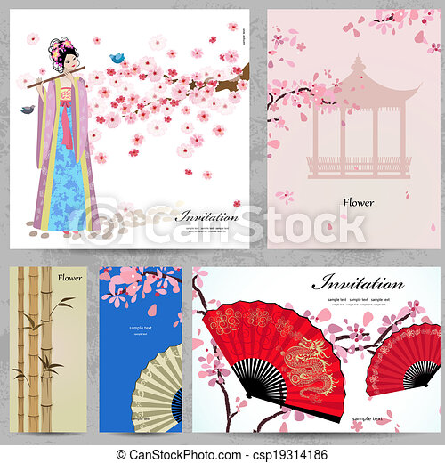 Greeting Cards Beautiful Women Of China