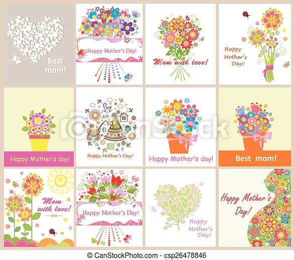 Greeting cards for mothers day greeting cards for mothers day csp26478846 m4hsunfo
