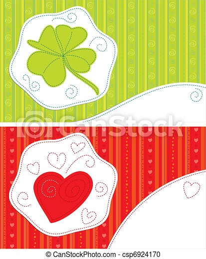 Greeting cards - luck, love - csp6924170