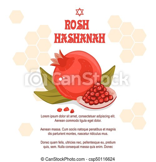 Greeting cards rosh hashanah jewish new year the design with a pen greeting cards rosh hashanah jewish new year the design with a pen to draw a half of a ripe pomegranate with a jar of honey stock vector celebrating rosh m4hsunfo