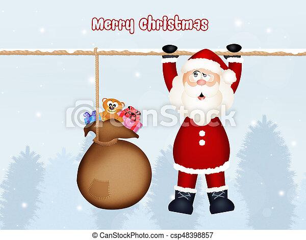 greeting for Christmas - csp48398857
