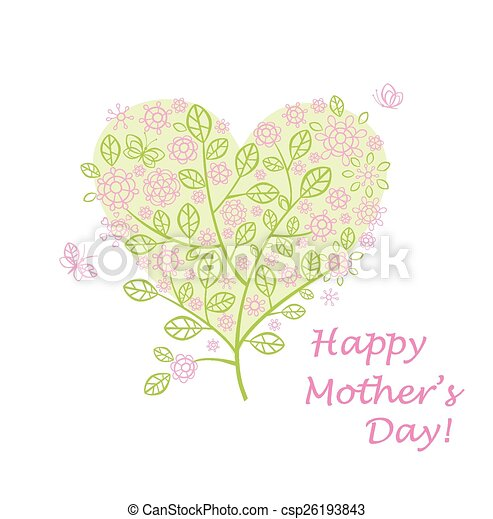 Greeting for mother's day - csp26193843