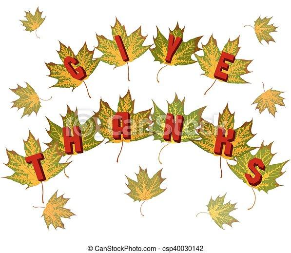 Greeting for Thanksgiving - csp40030142