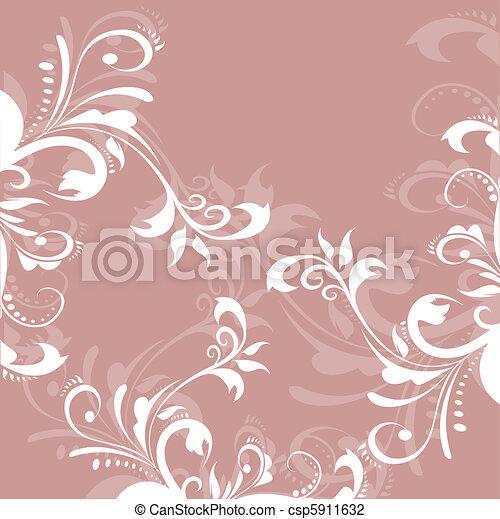 Greeting pastel card  - csp5911632