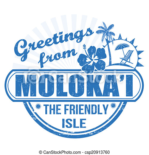 Greetings from Molokai stamp - csp20913760