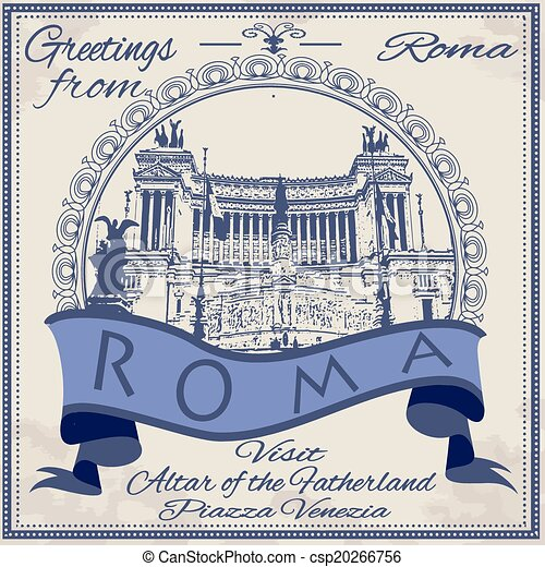 greetings from roma background - csp20266756