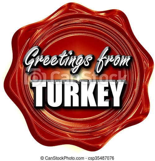Greetings from turkey card with some soft highlights stock greetings from turkey csp35487076 m4hsunfo