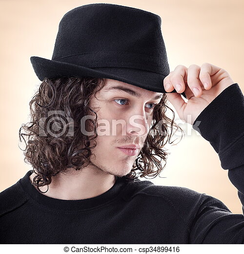 Greetings to someone portrait of young handsome man greet someone greetings to someone csp34899416 m4hsunfo