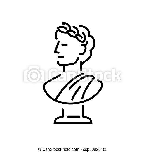 grego escultura busto vetorial cabeça antiga illustration