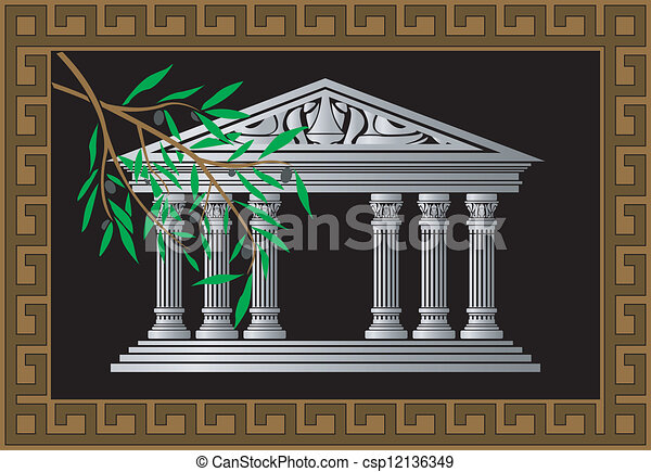 grego, templo - csp12136349