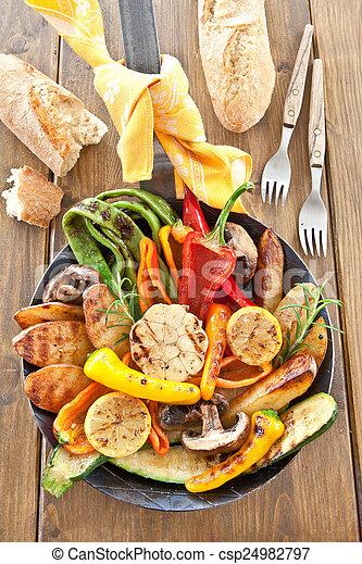 grelhados, verão, legumes, coloridos - csp24982797