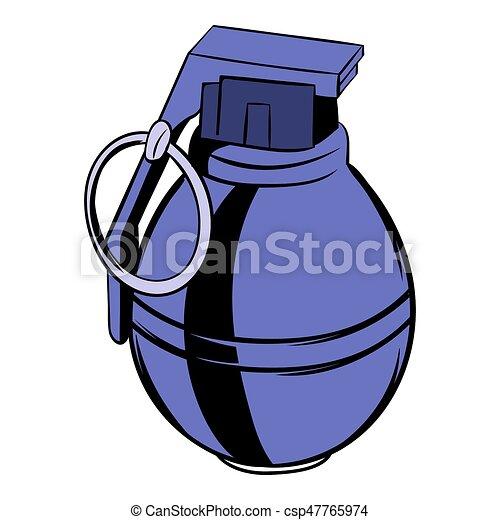 grenade icon cartoon grenade icon in cartoon style isolated rh canstockphoto com Army Hand Grenades Hand Grenade Fuse