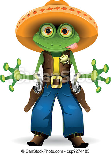 grenouille, shérif - csp9274485