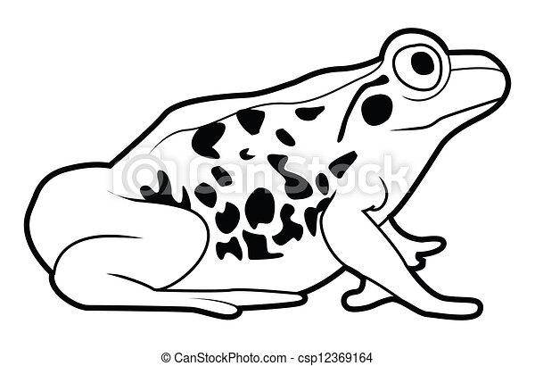 grenouille, signe - csp12369164
