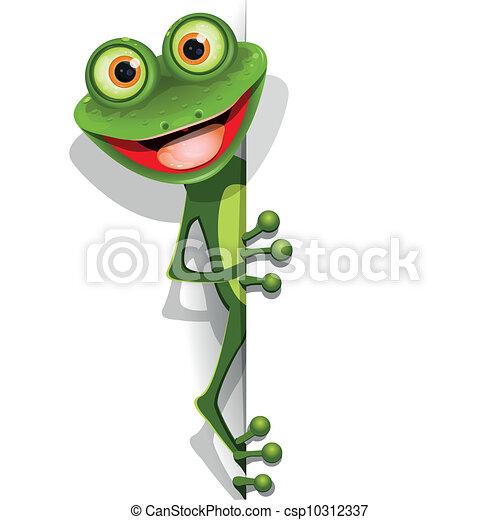 grenouille verte, gai - csp10312337
