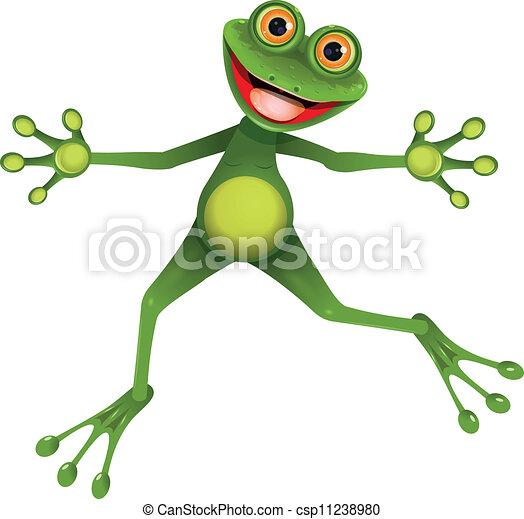 grenouille verte, heureux - csp11238980