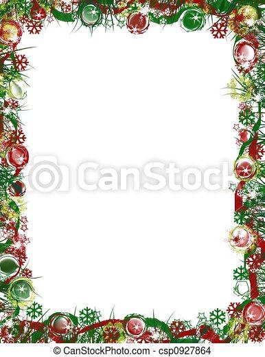 grens, kerstmis, feestelijk - csp0927864