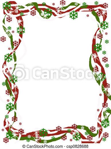 grens, kerstmis, lint - csp0828688