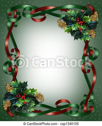 grens, linten, kersthulst - csp1340105