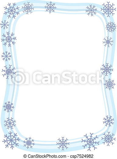 grens, winter, sneeuwvlok - csp7524982