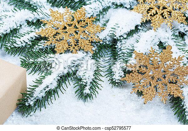 grenverk, utrymme, träd, gratis, gåva, snow., bakgrund, jul - csp52795577