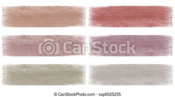 Grey and berry faded grunge banner set isolated - csp6525235