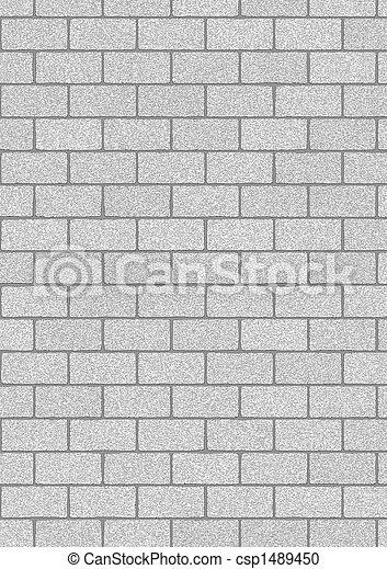Grey Bricks Background Stock Photo