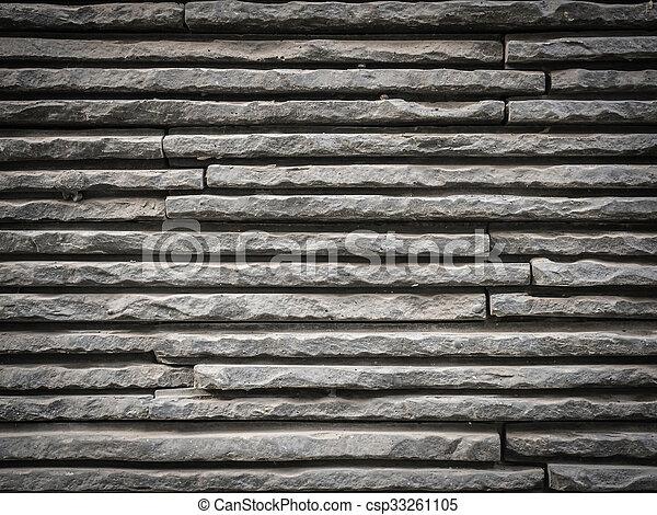 Grey Bricks Wall Background Stock Photo