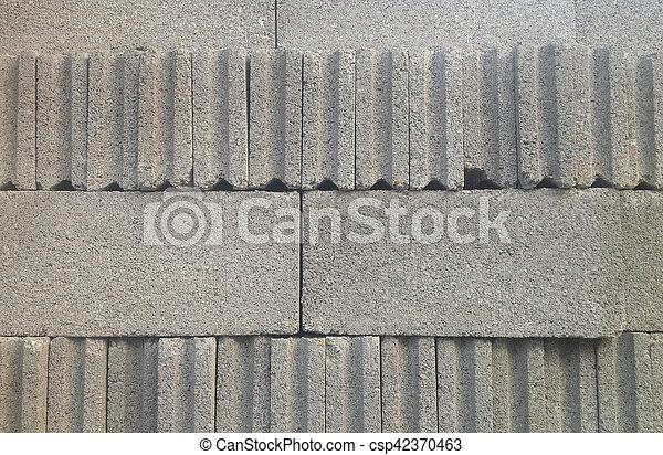 Grey Cement Block - csp42370463