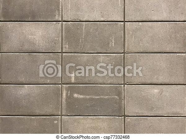 Grey cement block wall - csp77332468