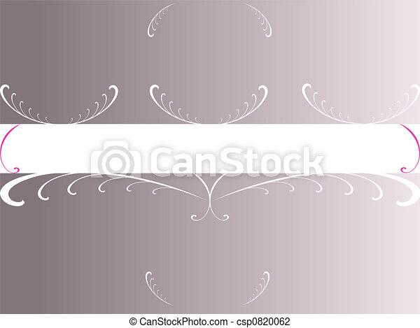 Grey Foral Copyspace - csp0820062