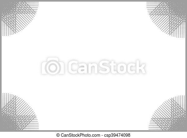 grey frame background - csp39474098