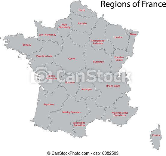 Grey France map - csp16082503