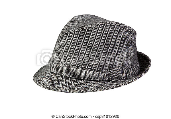 Grey Hat isolated on white - csp31012920
