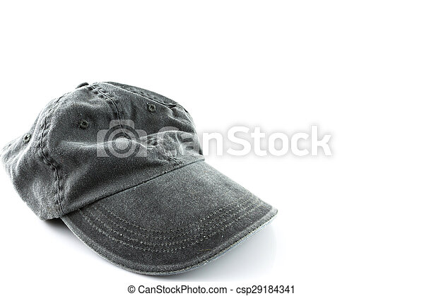 grey hat on a white - csp29184341