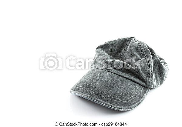 grey hat on a white - csp29184344