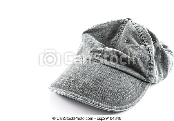 grey hat on a white - csp29184348