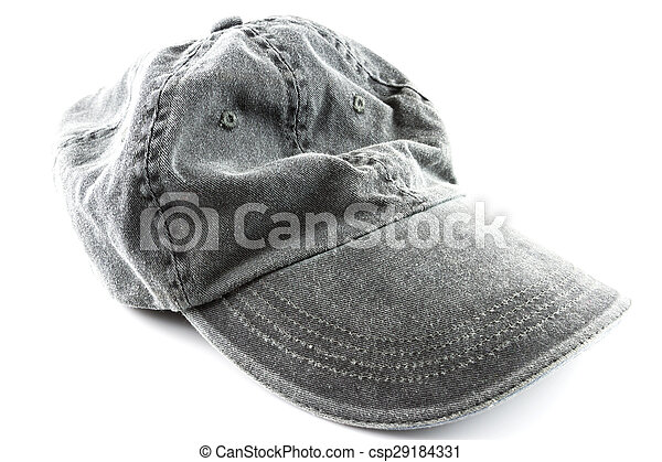 grey hat on a white - csp29184331