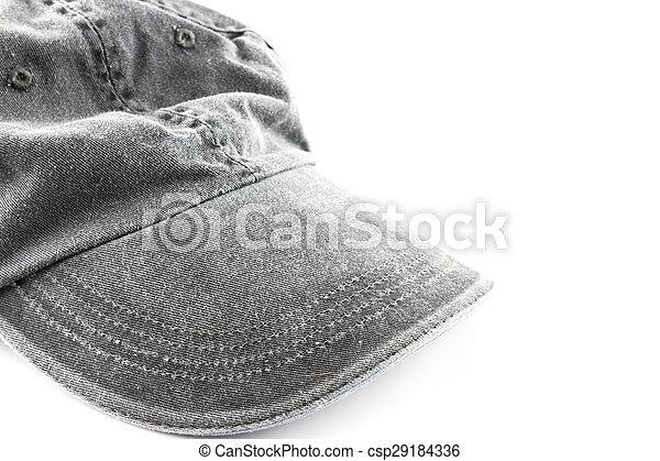 grey hat on a white - csp29184336