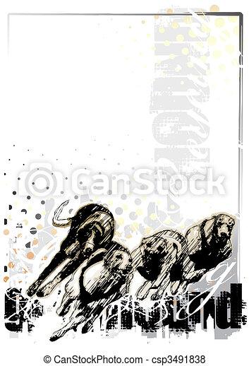 grey  hound background - csp3491838