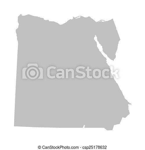 Vectors Of Grey Map Of Egypt Grey Map Of Egypt Csp - Map of egypt vector free