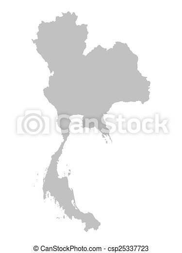 Grey map of thailand grey map of thailand csp25337723 gumiabroncs Images