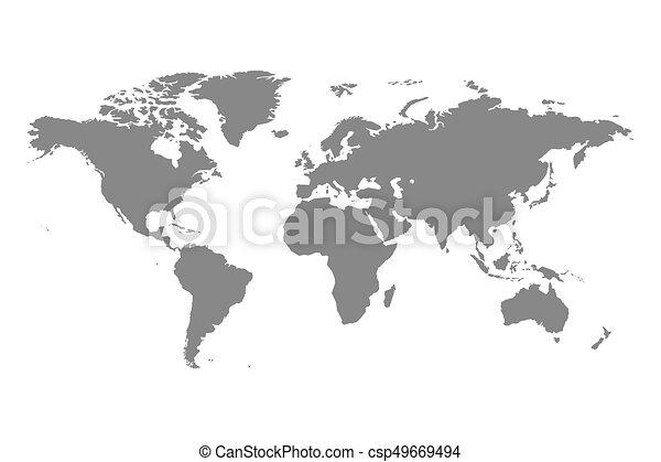 Grey political world map illustration grey political world map grey political world map illustration gumiabroncs Images