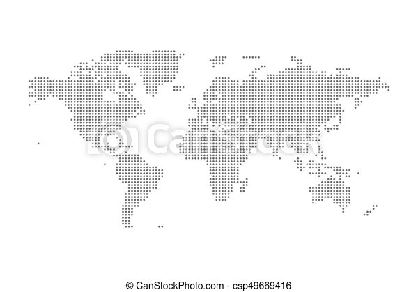 Grey political world map vector isolated illustration gumiabroncs Images