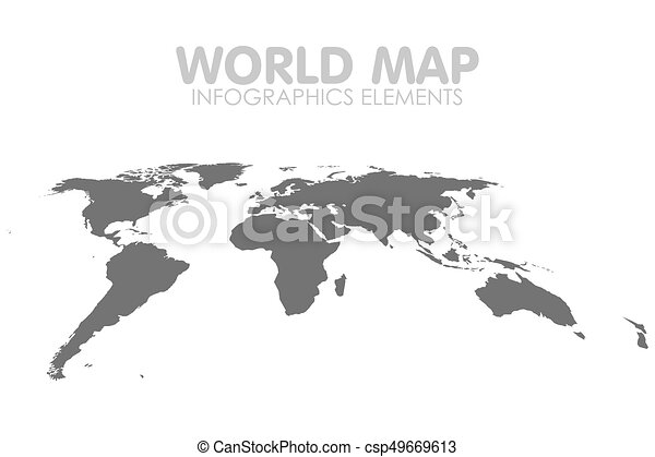 Grey political world map vector isolated illustration gumiabroncs Gallery