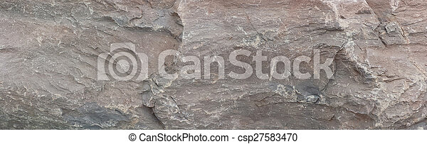 Grey Rock Panoramic Background Texture - csp27583470