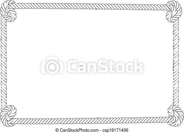 grey rope border rope border of grey and white color with knots rh canstockphoto com Western Borders Clip Art Lasso Border Clip Art